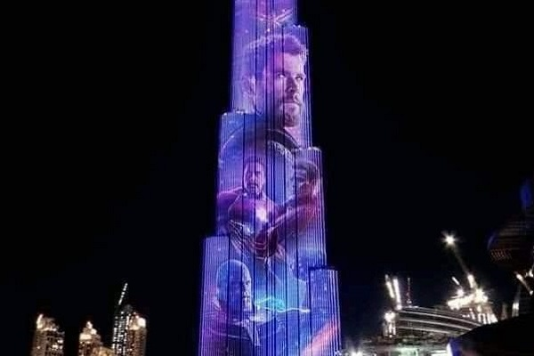 Marvel at the Burj Khalifa: world's tallest building lights up with the Avengers