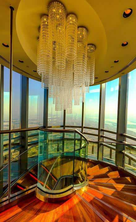 Dubai's iconic Burj Khalifa now has a new spiral staircase!
