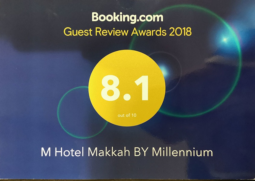 M Hotel Makkah by Millennium wins prestigious Guest Review Award from Booking.com