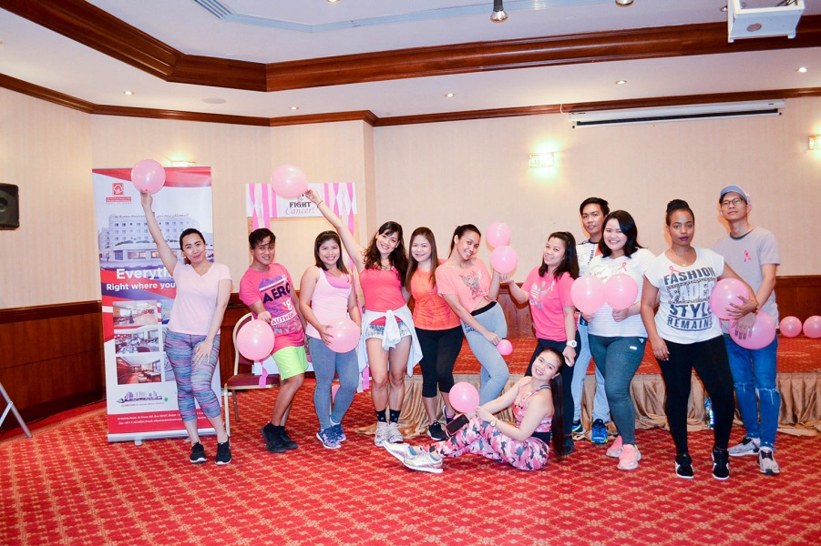 Al Bustan Centre & Residence hosts Zumba to promote Breast Cancer awareness