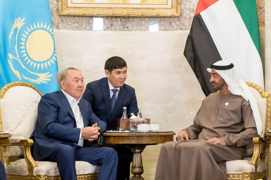 Mohamed bin Zayed receives President of Kazakhstan
