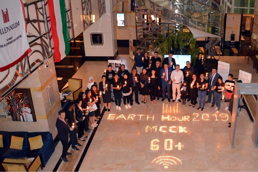 Millennium Hotel & Convention Centre - Kuwait participates in Earth Hour 2019