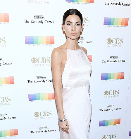 Lily Aldridge sparkles in Bulgari at 39th Annual Kennedy Center Honors