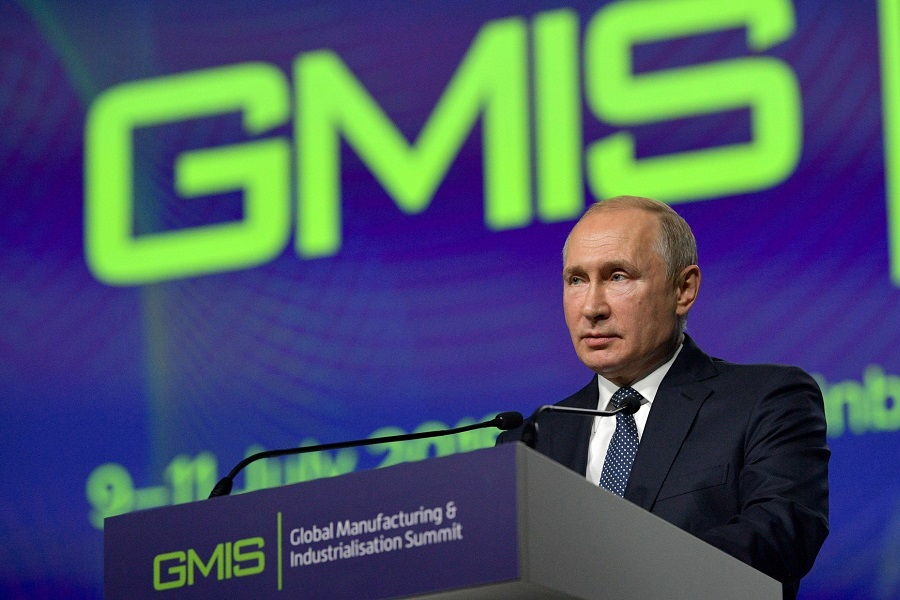 Fast transformation is radically changing appearance of entire industries, Putin tells GMIS
