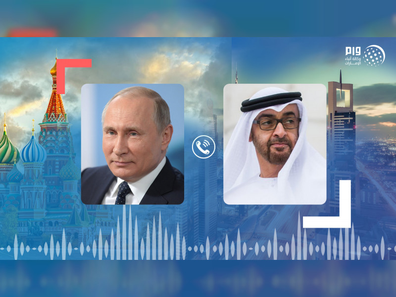 Mohamed bin Zayed receives phone call from Vladimir Putin