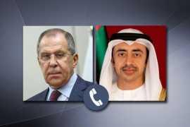 Главы внешнеполитических ведомств России и ОАЭ обсудили актуальные вопросы дальнейшего укрепления российско-эмиратских связей