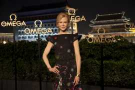Nicole Kidman visited the OMEGA boutique at Oriental Plaza, China