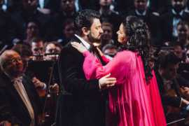 Anna Netrebko and Yusif Eyvazov at Dubai Opera