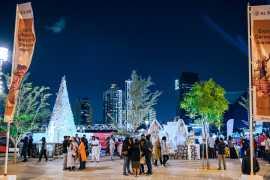 Праздничное настроение в снежном парке Аль Сиф в Дубае