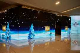 Tiffany & Co. unveiled its magical holiday windows at Dubai Mall