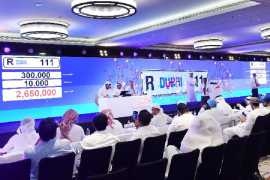 Dubai auction:  Going once, twice, R111 licence plate sold!