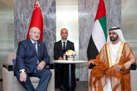 Mohammed bin Rashid meets President of Belarus