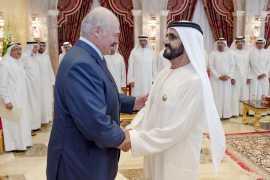 Мухаммед Бин Рашид принял президента Беларуси