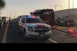 Dubai bus crash: death toll rises to 17