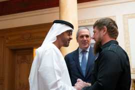 Mohamed bin Zayed receives Chechen leader