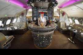 After Emirates' Bling 777, here's the 'diamond'-covered A380 onboard lounge