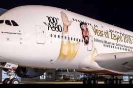 阿联酋航空迎来第100架空客A380客机