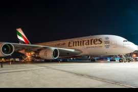 阿联酋航空迪拜-广州航线启用A380客机