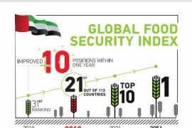 ОАЭ улучшили на 10 пунктов свои позиции в рейтинге глобальной продовольственной безопасности