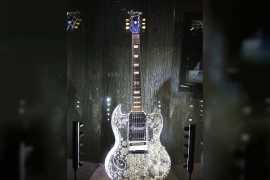 World's most expensive guitar on display at Jewellery Show in Abu Dhabi