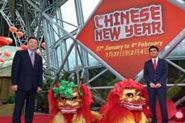 倪坚大使出席法拉利公园春节庆典活动