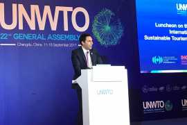 RAKTDA CEO Haitham Mattar addressed international audience