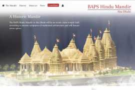Foundation stone laid for first traditional Hindu temple in UAE