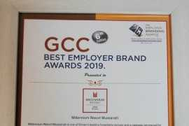 Millennium Resort Mussanah awarded as GCC's Best Employer Brand