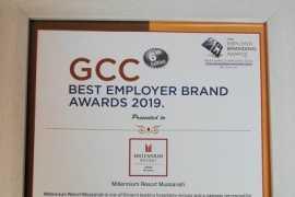 Millennium Resort Mussanah awarded as GCC's Best Employer Brand