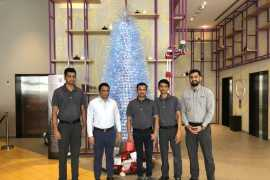 Studio M Arabian Plaza creates eco-friendly Christmas tree with 1200+ used water bottles