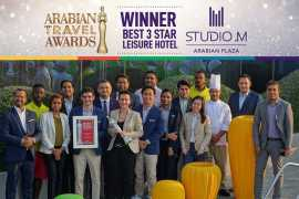 Studio M Arabian Plaza honoured with the 'Best 3 Star Leisure Hotel' Award