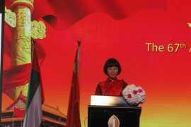 驻迪拜总领馆国庆67周年招待会顺利举办
