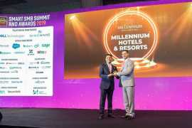 Millennium Hotels and Resorts won the 'Best Digital Transformation in hospitality' Award at Smart SMB Summit & Awards
