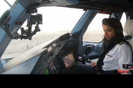 Женщины-пилоты Etihad представили редкие кадры взлета А380 (видео)
