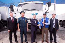 Emergency Response Capacity of the World Food Programme benefits from a donation of 97 Trucks and 30 Trailers by the Russian Federation