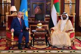 Мухаммед Бин Рашид встретился с Президентом Казахстана