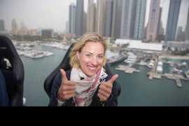 World number two Angelique Kerber enjoys Dinner in the Sky