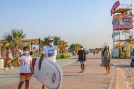 UAE Residents Enjoy Sun, Sea and Sand As Public and Hotel Beaches Reopen