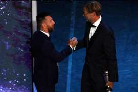 Barcelona's Lionel Messi wins Player of the Year at Best Fifa Awards: 'It's a special night for me'