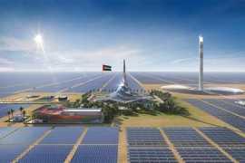 迪拜超级工程222米集热塔封顶