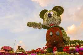 迪拜奇迹花园推出18米高米奇花卉设计