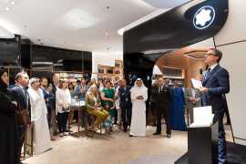 Montblanc reopened its flagship boutique in Dubai Mall
