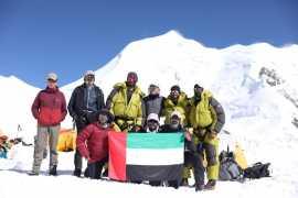 Военные альпинисты ОАЭ достигли вершины горы Химлунг Химал