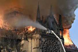 Fire breaks out at Paris' Notre Dame Cathedral (Video)