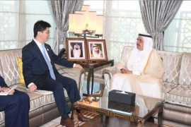 哈姆丹·本·拉希德接待中国驻迪拜总领事