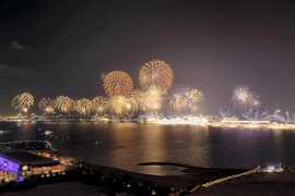 Рекордный новогодний фейерверк в Рас-Аль-Хайма