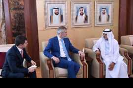 Nahyan bin Mubarak receives Russian Duma delegation