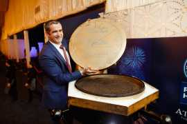 The world's largest caviar tin at Atlantis, The Palm