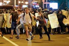 Массовые протесты после президентских выборов в Белоруссии