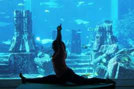 Now You Can Experience Underwater Yoga in Atlantis the Palm